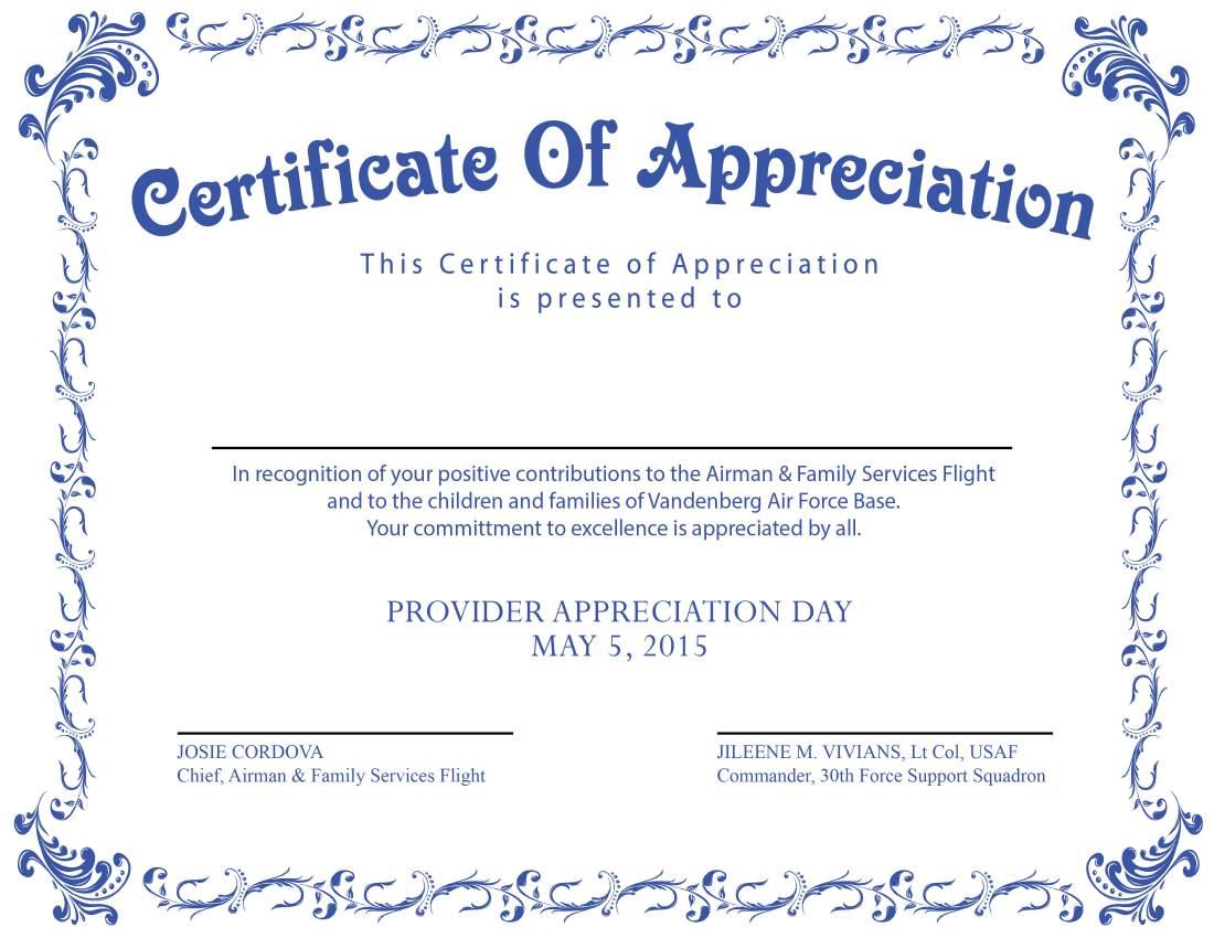 provider appreciation